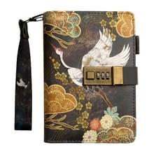 B6 antieke stijl losse-blad notebook dagboek boek met wachtwoord lock (kraan)