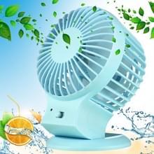 Dual Motor Blower efficiënt en opslaan Power draagbare Mini USB Fan bureaublad dempen Fan voor de snelheid modus van Office  reizen  2 soorten  DC 5V(Blue)