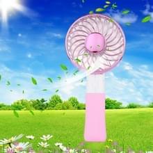 SEMA opvouwbare draagbare Mini accu ventilator met 3 toerentalregeling & Lanyard(Pink)