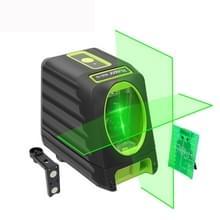 VAK - 1G 1V1H 40mW & 10mW 2 lijn groene Beam Laser-niveau die betrekking hebben op muren en vloeren (groen)