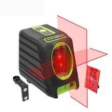 VAK-1R 1V1H 40mW & 10mW 2 lijn rode Beam Laser-niveau die betrekking hebben op muren en vloeren (rood)
