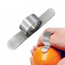 5 stuks RVS vinger Open oranje Peeler Parer Tool