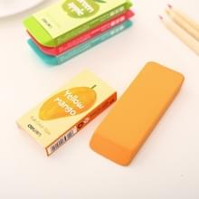 School briefpapier kantoorbenodigdheden kleur Fruit groot formaat gum  willekeurige kleur levering  grootte: 10 8 * 4 * 1.2 cm
