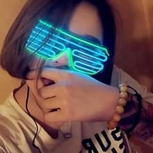 Fluorescentie dans Show verlichte glazen LED twee kleuren Shutter EL Flashing bril  standaard Type  willekeurige kleur levering