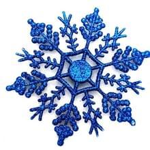 12 stuks kerstboom ornamenten acryl Snowflake stukken decoratieve hanger losse poeder  Diameter: 10cm (donkerblauw)