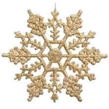 12 stuks kerstboom ornamenten acryl Snowflake stukken decoratieve hanger losse poeder  Diameter: 10cm(Gold)