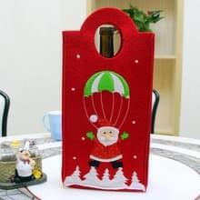 Kerstmis borduren Snowman Santa Verticle Type wijnfles tas  willekeurige kleur levering  grootte: 31 * 17 * 7 cm