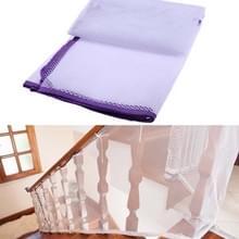 3m verdikking Veiligheidscope gevlochten balkon trap Safety net voor kind (paars)
