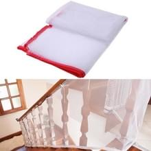 3m verdikking Veiligheidscope gevlochten balkon trap Safety net voor kind (rood)