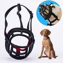 Hond snuit voorkomen bijten kauwen en blaffen maakt drinken en panting  grootte: 10.3 * 9.3 * 12.5 cm (zwart)