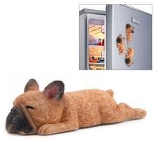 Huis decoratie mooie Rrunk op slaap Franse Bulldog 3D koelkast plakken  geen magnetische
