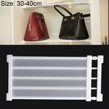 Garderobe opslag gelaagde baffle kabinet plank slaapzaal scheidings kast scheidings bord  breedte: 24cm  Stretch bereik: 30-40cm (wit)