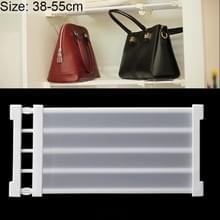 Garderobe opslag gelaagde baffle kabinet plank slaapzaal scheidings kast scheidings bord  breedte: 24cm  Stretch bereik: 38-55cm (wit)