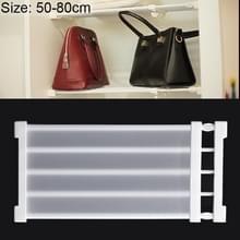 Garderobe opslag gelaagde baffle kabinet plank slaapzaal scheidings kast scheidings bord  breedte: 24cm  Stretch bereik: 50-80cm (wit)