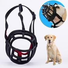 Hond snuit voorkomen bijten kauwen en blaffen maakt drinken en panting  grootte: 8.8 * 8.4 * 11cm (zwart)