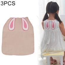 3 stuks katoen garen konijn oor patroon zweet-absorberend terug handdoek voor kind  maat: L  willekeurige kleur levering