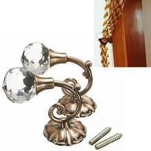 2 PC's Vintage Crystal bloem Barb gordijn decoratie wand Hook(Bronze)