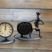 Creatieve ijzeren RVS kleine wekker Retro gepersonaliseerde horloges en klokken Boutique geschenken