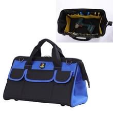 Multifunctionele Oxford doek elektricien Belt Pouch onderhoud Tools handtas schoudertas handige Hardware Tool Bag  grootte: 14 inch(Blue)
