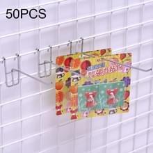50 stuks 3.5mm supermarkt ijzeren raster plank haak  lengte: 10cm