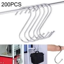 200 stuks 3mm multi-functionele S-vormige roestvrijstalen metalen haak  lengte: 9 cm