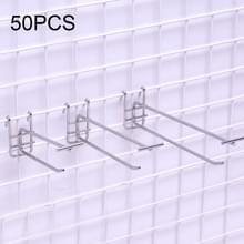 50 stuks 5.0mm supermarkt ijzeren raster plank dubbelhaak  lengte: 10cm