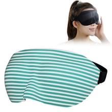 Thuis en onderweg slapen oog masker ooglapje met verstelbare Strap(Green)