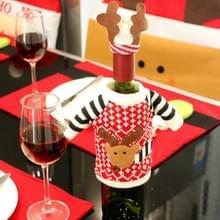 Kerst herten trui doek stijl tafel decoratie Champagne wijn fles zak  lichaamsgrootte: 18 x 13 cm
