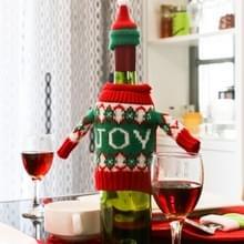 Kerst vreugde Word trui doek stijl tafel decoratie Champagne wijn fles zak  lichaamsgrootte: 18 x 13 cm