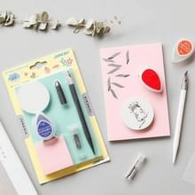 Gesneden Rubber beginnende DIY Set Water Droplet inktpad Pen Rubber snijdt Messenset (willekeurige kleur levering)