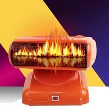 500W 180 graden rotatie energiebesparing warme en koude Dual Purpose lucht kachel warme Hand kleine airconditioner voor Office  Home  AC 220V  Amerikaanse Plug(Orange)