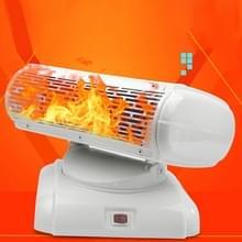 500W 180 graden rotatie energiebesparing warme en koude Dual Purpose lucht kachel warme Hand kleine airconditioner voor Office  Home  AC 220V  Amerikaanse Plug(White)