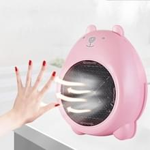 400W Mini Desktop Cartoon handige lucht kachel Warm Fan Blower kachel Radiator Warmer voor slaapzaal  Office  Home  AC 220V  Amerikaanse Plug(Pink)