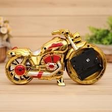 Cartoon motorfiets Alarm Clock slaapkamer kunststof aanwijzer wekker  grootte: 23 * 13 * 6 cm (goud  rood)
