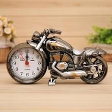 Cartoon motorfiets Alarm Clock slaapkamer kunststof aanwijzer wekker  grootte: 23 * 13 * 6 cm (zwart  goud)