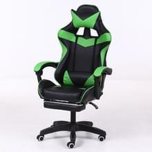 Computer bureaustoel Home Gaming stoel opgeheven roterende lounge stoel met voetsteun/aluminiumlegering voeten (groen)
