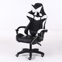 Computer bureaustoel Home Gaming stoel opgeheven roterende lounge stoel met aluminiumlegering voeten (zwart)