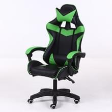 Computer bureaustoel Home Gaming stoel opgeheven roterende lounge stoel met aluminiumlegering voeten (groen)