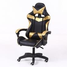 Computer bureaustoel Home Gaming stoel opgeheven roterende lounge stoel met aluminiumlegering voeten (goud)