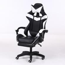 Computer bureaustoel Home Gaming stoel opgeheven roterende lounge stoel met voetsteun/nylon voeten (zwart)