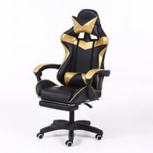 Computer bureaustoel Home Gaming stoel opgeheven roterende lounge stoel met voetsteun/nylon voeten (goud)