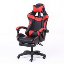 Computer bureaustoel Home Gaming stoel opgeheven roterende lounge stoel met voetsteun/nylon voeten (rood)