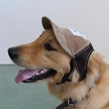 Reizen zonnescherm zonnebrandcrème Cap Outdoor sporten ademend honkbal hond Corduroy Hat verstelbaar  grootte van de hond: L(Coffee)