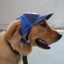 Reizen zonnescherm zonnebrandcrème Cap Outdoor sporten ademend honkbal hond Corduroy Hat verstelbaar  grootte van de hond: L(Blue)