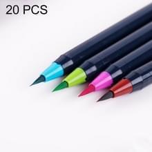 20 stuks / Box schilderij tekening inkt aquarel Water Color Marker Pen borstelset