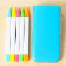 5 stuks / Box Candy kleur TL Marker Pen geur markeerstift Pen aquarel Pen Marker Pen (blauw)