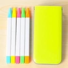 5 stuks / Box Candy kleur TL Marker Pen geur markeerstift Pen aquarel Pen Marker Pen (geel)
