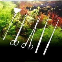5 STÜCK roestvrijstalen schaar  pincet  Clip en afvlakken Tools  boom Plant gras Aquarium Fish Tank landschap Trim Tools  grootte: S