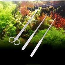 3 delige roestvrij stalen schaar  pincet en Clip  boom Plant gras miniaturen Aquarium Fish Tank landschap Trim Tools