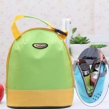 Draagbare handvat Thicken geïsoleerde Luncheon tas  grootte: 26 * 23cm (geel + groen)
